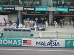 Right infront of BMW Williams Pitstop!